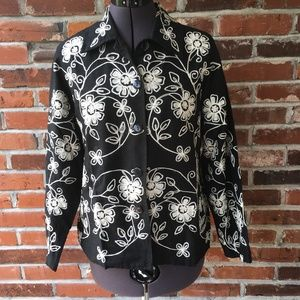 Life Style Petite Embroidered Jacket Black PS